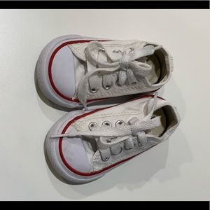 Infant white converse